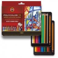 Карандаши цветные художественные POLYCOLOR 24 цв